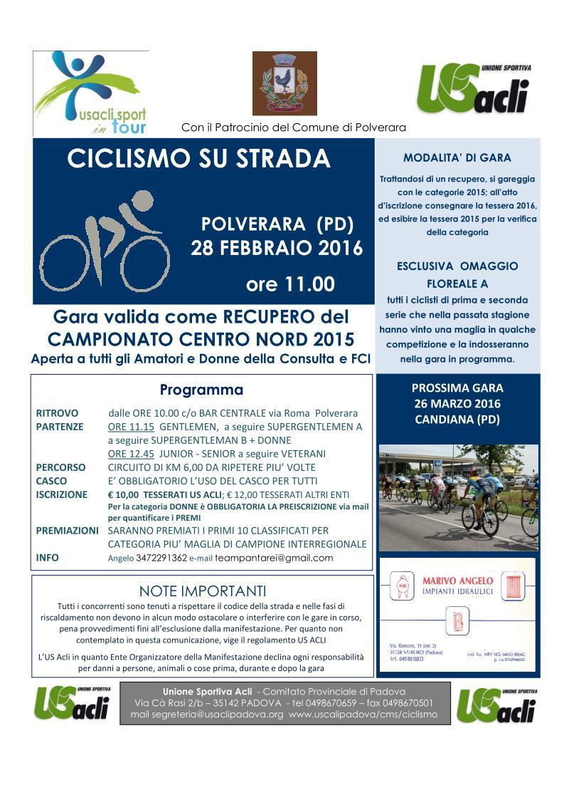 Gara a Polverara - 28 febbraio 2016