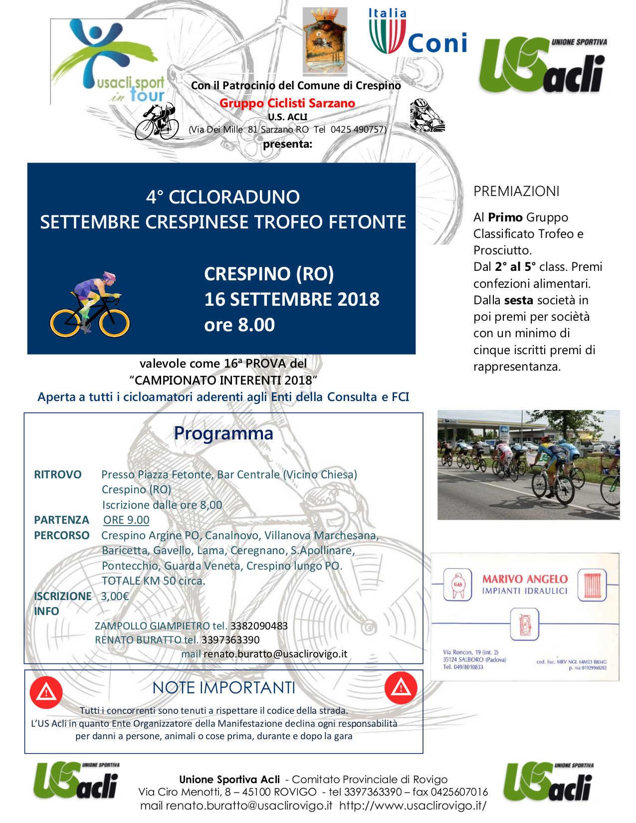 Volantino Crespino 2018